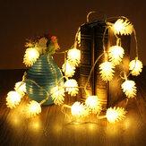 2.2m 20 LED Çam Konisi Halat Işık Lamba Noel Düğün Parti Dekorasyonu