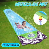 Surf Water Slide Fun Lawn Toboganes de agua Piscinas para niños Water Spray Mat Home Backyard al aire libre Niños Adultos Summer Water Toys