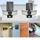 3 Modes Double Heads LED Solar Light Outdoor Motion Sensor  Rotatable Waterproof Wall Lamp