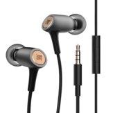 Fones de ouvido AUGLAMOUR T200 CNC de metal Fone de ouvido com fio de 3,5 mm Fone de ouvido de diafragma rígido de cristal PET Fone de ouvido dinâmico com microfone