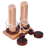 Classical Wooden Educational Toys Unlock the Unlocking Loop Kongming Lock for Kids