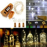 Alimentado por bateria 10 LEDs em forma de cortiça LED Night Starry Light Bottle Lâmpada de férias para festa de Natal