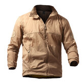 Mens Tactical Skin Outdoor Skin Jacket leve e fino vento