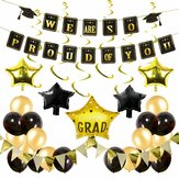 42Pcs / Set Graduation Banner Party Dekoration Grad Photo Booth Ballon Wanddekoration