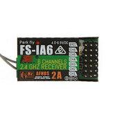 FlySky FS-iA6 2.4G 6CH AFHDS Receiver For FS-i10 FS-i6 Transmitter