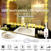 1M/2M/3M/4M/5M USB Touch Switch LED Strip Light Waterproof 2835 Vanity Dimmable Mirror Lamp Kit for Makeup TV Backlight