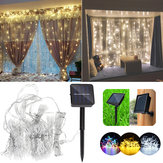 Solar Powered Waterproof Dwie instalacje 300 diod LED Fairy Curtain String Light na Boże Narodzenie