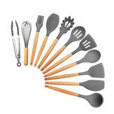 11ピース食用シリコーン非粘着性のキッチン用品セット調理ヘラガジェットツール