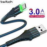 Twitch Micro USB Data Cable 3A Fast Charging Line For Huawei Vivo Xiaomi ASUS ZenFone Max Pro (M1) ZB602KL