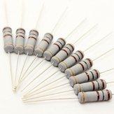 300pcs 220V 2W 100ohm 100R Resistor Cerâmico Resistor de filme de óxido