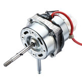 60W 1250RPM Air Conditioner Condenser Fan Motor Double Rolling Bearing Shaft Motor