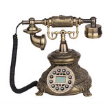 Telefon stacjonarny przewodowy telefon Vintage Antique Style Old Fashioned Retro Home Office Decoration