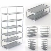 Multi Tiers Shoes Shelf Storage DIY Metal Organizer Rack Holder Household Stands Shoe Racks