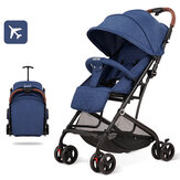 Foldable Portable Baby Stroller With Shock Absorbers Can Dide or Lie Down, Lightweight Kids Pushchairs for 0-3 Years Old Toddles