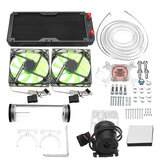 240mm DIY PC Water vloeistof Koelventilator Kit Koellichaam Set CPU Blok Waterpomp Reservoir Slang