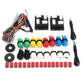 60 en 1 Kit con 2 Joysticks 4/8 Way 16 HAPP Push Botones para MAME Arcade JAMMA
