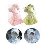ZANLURE Adulto / Niño PVC extraíble Transparente Anti-niebla Protectora Sombrero Mascara Saliva Protección Facial pesca Sombrilla Sombrero