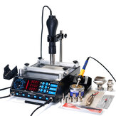 YIHUA 853AAA 220V 3 In 1 Preheating Station Infrared BGA Rework Soldering Station Hot Air Gun 60W Tin Soldering Iron