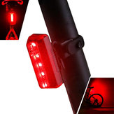XANES TL10 5 LED 5 trybów Bike Tail Light Wodoodporna Ładowanie USB Reflective Shell Bicycle Rear Light
