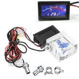 LED Thermomètre 3 Way FlowMeter Pour Refroidisseur d'eau Système de Refroidisseur de liquide avec 2 Barbs