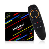 H96 Max Plus RK3328 4G / 64G Android 8.1 USB 3.0 Controllo vocale TV Scatola Supporto HD Netflix 4K Youtube