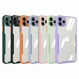 Bakeey for iPhone 12 Pro Max Case Bumpers with Lens Protector Transparent HD Clear Acrylic + TPU Frame Shockproof Protective Case Back Cover