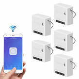 5pcs SONOFF Mini Two Way Smart Switch 10A AC100-240V Works with Amazon Alexa Google Home Assistant Nest Supports DIY Mode Allows to Flash the Firmware