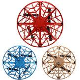 Brinquedo para aeronaves voadoras de OVNIs Mini Quad de Levitação por Indução Controlada à Mão Mini Drone Brinquedo Seguro de Proteção Dupla Para Crianças Atividades ao Ar Livre