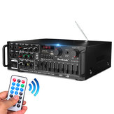 800W 110V 2Channel Equalizer bluetooth Home Stereo Power Amplifier USB SD Remote