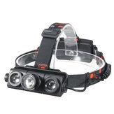 XANES 2603 1100LM T6 + 2 XPE Led Sepeda Headlamp Telescopic Zoom Menjalankan Camping Adjustable 4 Mode 2 × 18650