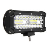 7 Pollici Tri Row 40W LED Barre luminose da lavoro Flood Spot fascio combinato IP68 6000K per fuoristrada SUV