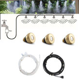 Water Misting Cooling System Kit Summer Sprinkler Brass Nozzle Outdoor Garden Dust Removal Spray Hose Irrigation Set