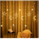 3,5M LED Moon Star Fairy String Light Wedding Holiday Home Home Party Trang trí EU Cắm AC220V