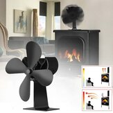 4 Blade Fireplace Fan Eco Friendly Quiet Winter Thermal Heat Power Fan Wood Burner Stove Fan Home Travel