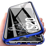 Bakeey 360º Curved Magnetic Flip Double-Sided 9H Tempered Glass Metal Full Body Housse de protection pour Samsung Galaxy S20 Ultra / Galaxy S20 Ultra 5G 2020