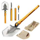Military Folding Shovel Screwdriver Whistle Bottle Opener Multifunctional Survival Outdoor Camping Emergency Tools