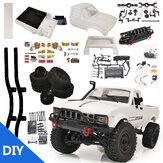 WPL C24 1/16 2.4G 4WD Crawler Truck RC Car KIT Volledige proportionele bediening