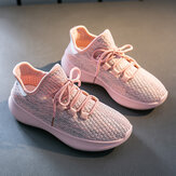 Women Casual Breathable Mesh Lace Up Non-slip Sneakers