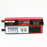 6000W Peak DC 12V/24V to AC 220V Power Inverter Digital Modified Sine Wave 4 USB Port 2 Sockets