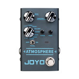 جويو R-14 ATMOSPHERE Reverb Guitar Pedal SPRING / CHURCH / PLATE / EKO-VERB / SHIMMER / COMETS / REWIND / FOREST / PULSE 9 رقمي Reverb Effect
