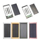 10000mAh draagbare zonne-energie Bank Dual USB snellader DIY Case voor mobiele telefoon