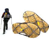Cramponsanti-dérapantsdeneigeenplein air Pince à glaçons en acier inoxydable pour l'escalade de ski