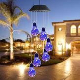 LED-Licht Solarlicht Windspiel Farbwechsel Garten Kupfer Birne