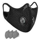 Maska przeciwpyłowa wielokrotnego użytku PM2.5 Odporny na wiatr mgłowy respirator na zanieczyszczenia z zaworem i 2 wymiennymi filtrami