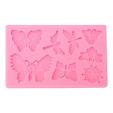Butterfly Dragonfly Insects Silicone Mold Fondant Cake Mould Baking Tool