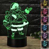 Weihnachten3DWeihnachtsmannLEDNachtBerühren Farbwechsel Illusion USB Light Lamp