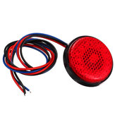 Rear Tail Brake Stop Light Lamp LED Round Reflector For Car Motorcycle