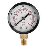 TS-Z52 Manometro 1/8 pollici NPT Side Mount 0-200psi 0-14bar Manometro quadrante Misuratore di aria compressa Idraulico Tester di pressione Calibro