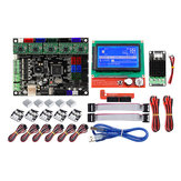 MKS GEN L Moederbord + Mini MOS Module + LCD 12864 Display + 6st Limit Swich + 5 Stks A4988 Driverset 3D Printer Onderdelen