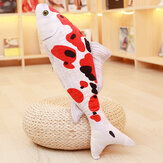 KCASA Taisho Showa Red White Gibel Carp Golden Koi Fish Stuffed Plush Toy 3D Carp Pillow Koi Fish Stuffed Plush Toy Animal Fish Toy Dolls with PP Cotton for Children Lovers Birthday Gift